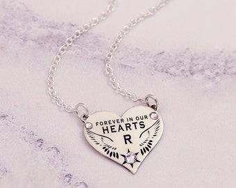 Pet Memorial Jewelry   Sterling Silver   Loss of Pet Necklace   Condolence Gift   Pet Loss Gift   Pet Loss Jewelry   Small Heart Necklace  