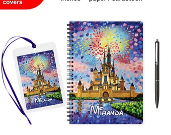 Disney Autograph book Personalized Scrapbook Luggage tag Photobook First Disney Trip Journal Signature Kids Diary for boys girls