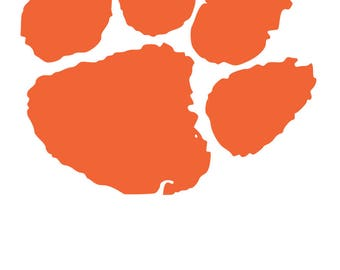 Clemson Tiger Paw SVG Digital Download