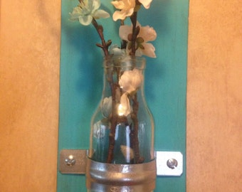 Rustic Wall Vases  Set of 2