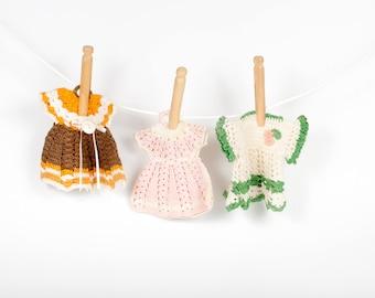 Vintage Crochet Dress Pot Holder