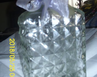 Vintage Glass Bottle with Cork Bow Squared Cut 1998 Distributor Polardreams