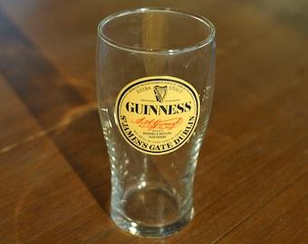 Guinness Extra Stout St. James Gate, Dublin Logo Vintage Style Pint Beer Glass - Dublin, Ireland