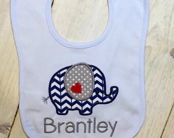 Brantley Elephant Bib / Shirt / Onesie