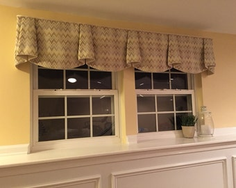 "Made to Order ANNA Hidden Rod Pocket® Valance fits 67""- 86"" window, Made with your fabric, includes LABOR and LINING"
