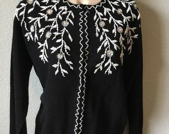 1960s Carson Pirie Scott beaded sweater
