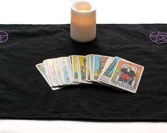 Pentacle Altar Cloth - Pentacle Cloth - Tarot Spread Cloth - Altar Cloth - Tarot Cloth - Ritual Tools - Wiccan Altar - Pentacle Grid Cloth