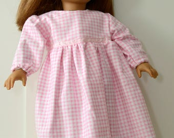 Flannel Nightie for 18 Inch Doll