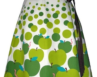 apple pickin' skirt - granny smith