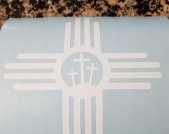 Zia Symbol with 3 Crosses