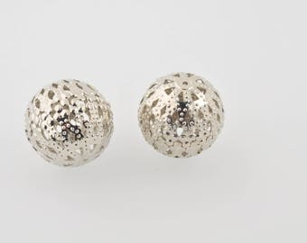 Silver filigree round bead 23 mm