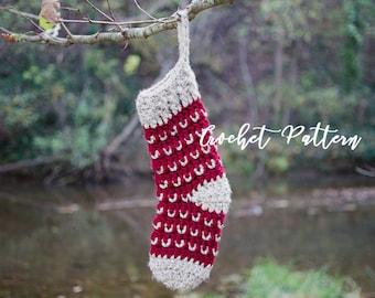 CROCHET PATTERN | Christmas Stocking | The Joy | Bulky & Chunky Crochet | Crochet Pattern