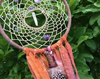 Amethyst & Quartz Dream Catcher