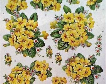 Primula Floral Iron On Fabric Transfer