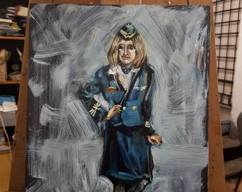 oil painting by stewardess