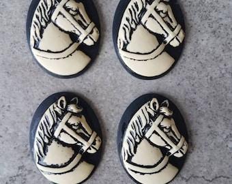 Horse Flatback. Horse Cabochon.