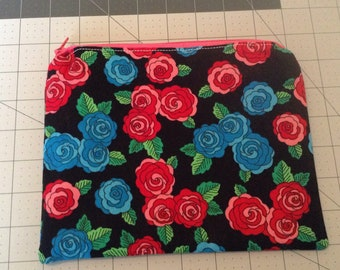 Zippered pouch/Makeup pouch/jewelry bag