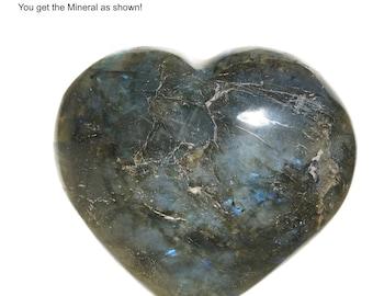 Labradorite Heart 188g 74mm