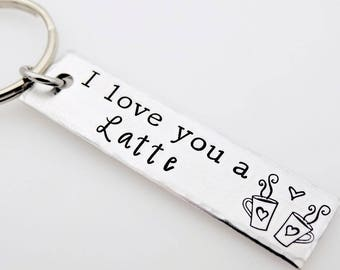 Valentines Day Gift, for him, for her, I love you a Latte, coffee Gift for boyfriend, girlfriend, husband, wife, couples gift, romantic love
