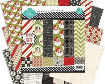"Heidi Swapp, ""Believe"" 12X12 Paper Pad, 48 Single-Sided Sheets, 12"" X 12"" Holiday/Christmas Paper"