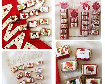 Christmas  Nugget Wraps, Hershey Candy Wraps, Teacher Appreciation Gifts, Christmas Neighbor Gifts, Co-Worker Treats, Stocking Stuffers