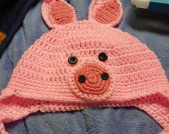 Rowan's Pig hat with Tail