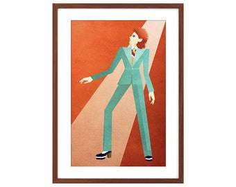 David Bowie Hunky Dory 11x17 minimalist poster - Life on Mars?