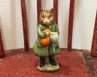 "Beatrix Potter's ""Simpkin"" Cat Figurine-F. Warne & Co. Ltd., Copyright 1975, Beswick, England"