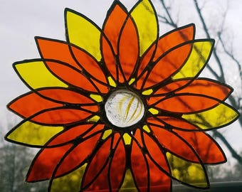 READY TO SHIP Stained Glass 3D Flower!