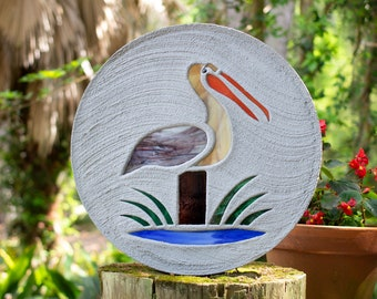 Stained Glass Pelican Stepping Stone #784