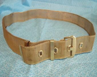 Mesh Gold Belt Metal Vintage