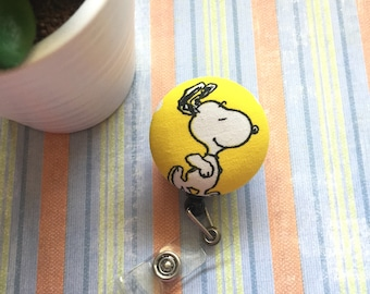 Snoopy ID badge, Reel ID Badge Holder, Snoopy Badge Holder, Retractable Badge, Nurse Badge, Student Badge, Teacher Badge, Employee Badge