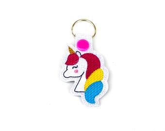 Unicorn Keychain | Unicorn | Unicorn Stocking Stuffer | Gifts Under 10 | Secret Santa Gift | Unicorn Zipper Pull | Teen Gift | Gift for Her