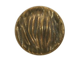 3 Riverside Grasses 11/16 inch ( 17 mm ) Metal Buttons Antique Brass Color