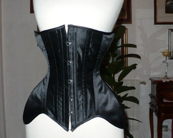 PATTERN long hip UNDERBUST victorian corset edwardian underwear lingerie waist cincher