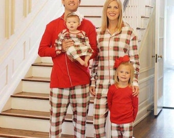 Christmas Pajamas, Plaid Pajamas, Christmas Plaid, Christmas PJs, Matching PJs, Family PJs, Pajamas, Christmas Gown, Sibling
