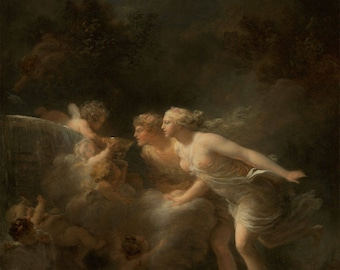 "Jean-Honore Fragonard : ""The Fountain of Love"" (1785) - Giclee Fine Art Print"