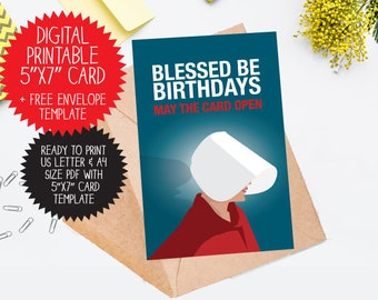 funny birthday card printable etsy