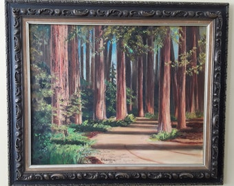 California Redwoods Oil on Canvas