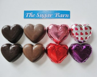 HEART Solid Chocolate or HEART with mini OREO® Cookie*12 Count*Candy Hearts*Valentine's Day*Sweetheart*Bridal Shower*Wedding Favors