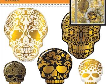 Sugar Skulls Halloween Gel Clings