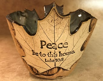 Small Scripture Maple Leaf Bowl 123