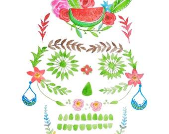 Skull Frida Kahlo
