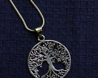 Bronze Yggdrasil Chain- mythical tree- Norse cosmology- Ragnarök.- Cosplay- Rune- Odin- Sacred- Viking- North- Tribal- Culture- Mythology