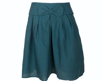 Simply Love Women Vintage Retro Green Skirt With Papillon