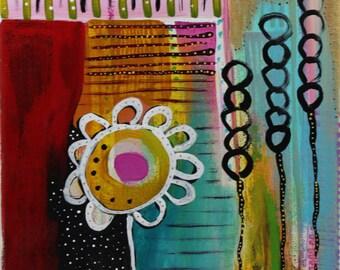 9 x 12 inch original acrylic painting- Dawn