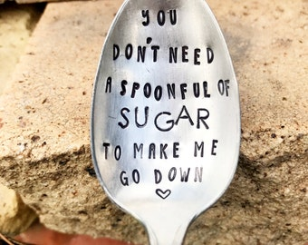 Valentines Day Gift For Him - Coffee Spoon - Funny Guy Gifts  Funny Gifts - Sugar Spoon - Boyfriend Gift - Husband Gift - Gift For Him