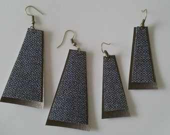 The Jubilee Earrings - Denim