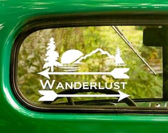 2 Wanderlust Decals, Explore Decal, Wanderlust Sticker, Explore, Vinyl Sticker, Car Decal, Laptop Sticker, Vinyl Decal