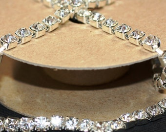 Cystal/Silver Rhinestone/Diamante/Crystal Trim - 100Metres - 6mm - Hair Accessories, Cakes, Bouquets, Jewellery, Costume!